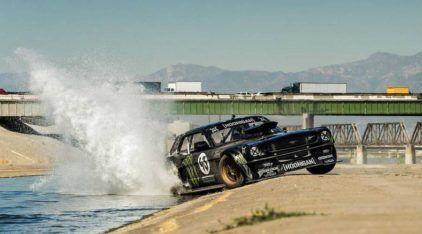 O insano Mustang de 845cv nas mãos do Ken Block