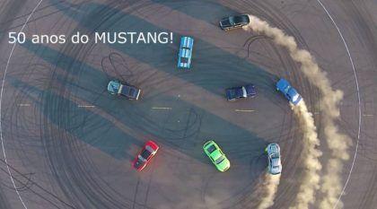 A Ford encontrou o jeito mais Espetacular para comemorar os 50 anos do Mustang!