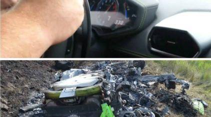 Foi Terrível este Acidente com um Lamborghini a 315km/h! Por milagre, eles sobreviveram. Vídeo Assustador!