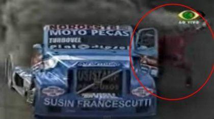 Assustador, o Dia em que um Piloto da F-Truck teve que pular do Caminhão pegando Fogo!