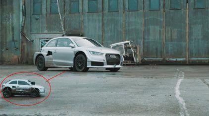 Um Garoto e seu Audi RC desafiam um Audi S1 Quattro. Quem vence essa?