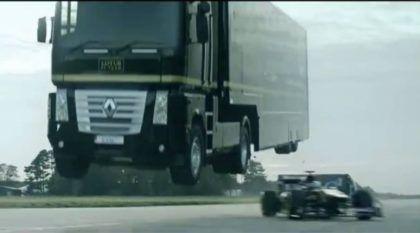 Loucura sem Limites: Você já imaginou um Caminhão saltando sobre um Fórmula 1? Isso é real?
