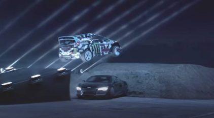 Ken Block tenta um Salto de Carro na Escuridão! O resultado é incrível!