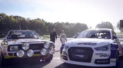 Um Piloto Lendário e a Evolução de seu Audi Quattro: Um Encontro Emocionante!