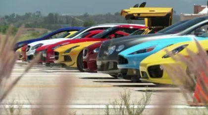 Uau! 12 SuperCarros Arrancam Juntos para ver qual chega aos 200 km/h mais Rápido!