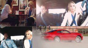 Ela chamou esses Caras para dar uma Volta no seu Mustang 2015. Veja a Surpresa que eles Tiveram!
