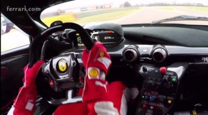 LaFerrari FXX K Acelerando nas Mãos de Sebastian Vettel! E na Pista da Ferrari em Fiorano!