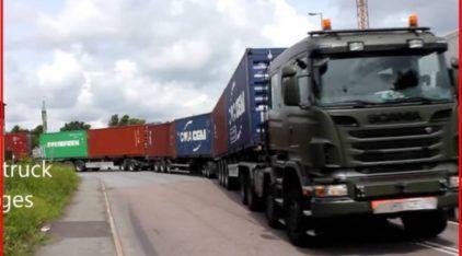 O Scania mais Comprido do Mundo? Inacreditável o Tamanho (quase sem fim) desta Carreta