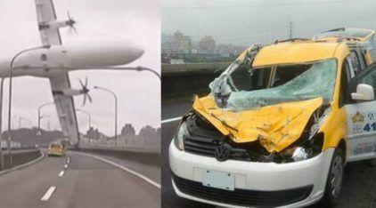 O Taxista que Milagrosamente Sobreviveu à Colisão com o Avião em Taiwan! Imagens Inacreditáveis