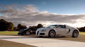 Briga de Titãs: Pagani Zonda F versus Bugatti Veyron em uma Arrancada
