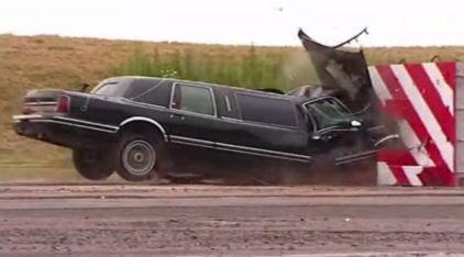 Incrível! O primeiro Crash-Test de uma Limousine! Você precisa Ver o Resultado Surpreendente da Batida!
