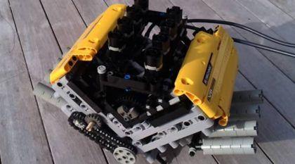 Feito de LEGO, veja como funciona esse Motor V8 (com caixa de câmbio de 6 marchas)