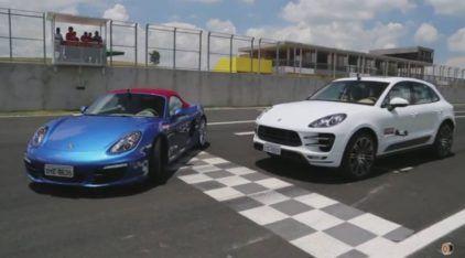 Desafio de Porsches: Rubens Barrichello Acelera o Macan contra o Boxster S! Será que o SUV ganha do Clássico?