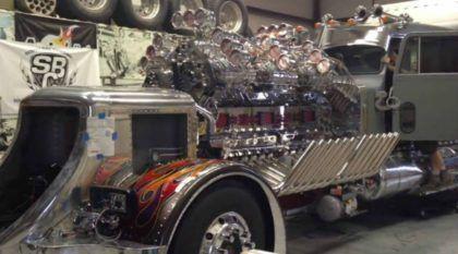 O Caminhão com o mais brutal dos Motores: 24 cilindros, 12 blowers e mais de 3.000cv (Veja e ouça essa insanidade)