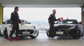 Espetáculo na Pista Molhada: Barrichello e Raul Boesel acelerando forte com Jaguar F-Type R com 550cv!