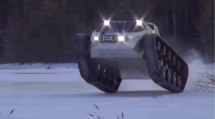 O Monstruoso Veículo que Devora a Neve, com Motor V8 de 650 cv! E ainda faz Drifting de um jeito Insano!