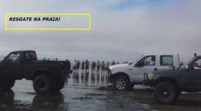 Era um Resgate Difícil no Mar. Por isso, Caminhonetes Ford, Toyota e Dodge Precisaram Juntar Forças! Impressionante!