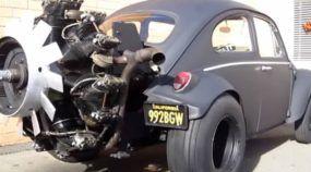 Conheça o Fusca com Motor Radial de 220 cv retirado de um Tanque de Guerra (de 1941)