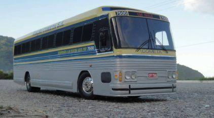 A Mais Incrível Miniatura de Ônibus Nacional (com Rádio-Controle!): o Lendário Flecha Azul, Scania, da Viação Cometa!