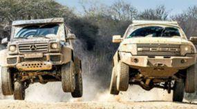 Dois Monstros do Off-Road em Ação: Ford F-150 Raptor x Mercedes G500 4×4²! Diversão Garantida neste Vídeo Top!