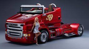Um Scania Conversível? Este Espetacular Caminhão (SuperEsportivo) tem Motor V8, de 1.000cv, e Derrapa de Forma Insana!