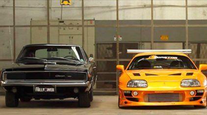 Espetacular: veja um Encontro Épico entre um Dodge Charger e um Toyota Supra no Brasil (para relembrar do Velozes e Furiosos)!