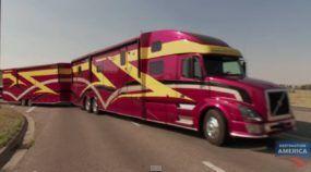 Este Caminhão é uma Verdadeira e Casa sobre Rodas (e ainda leva um Barco Junto)! Impressionante!