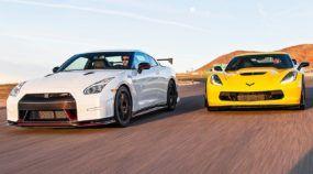 Tio Sam ou Godzilla? O Novo Corvette Z06 Desafia um Nissan GT-R Nismo na Pista!