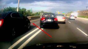 O Trânsito parou e este Civic, sem dar Seta, tentou Mudar de Faixa! O resultado foi lastimável!