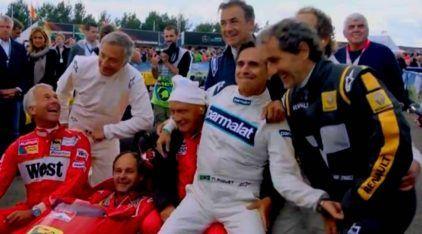 Vídeos espetaculares! Pilotos lendários voltam a guiar seus F-1 clássicos, incluindo Piquet (zoando), Prost, Lauda e Berger!