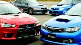 O Duelo Oriental: Veja 5 Disputas TOP entre Subaru Impreza WRX x Mitusbishi Lancer EVO! Qual é o melhor?