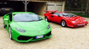 Modernidade X Tradição: Lamborghini Huracán encara seu Avô, Countach! E agora?