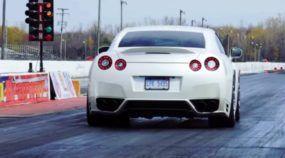 A arrancada deste Nissan GT-R de 1.100 cavalos é insana (os detalhes do motor também)