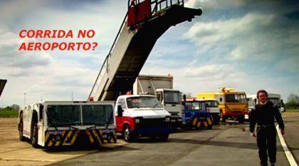 A mais insana corrida! Veículos de serviço de Aeroporto na pista (e tem até caminhões e ônibus)!