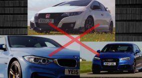 Polêmica e surpresa na pista! Qual é mais rápido: Honda Civic Type R, BMW M3 ou Audi RS3?