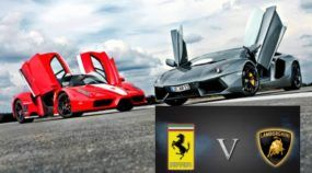 O eterno duelo: Lamborghini x Ferrari! Qual você prefere? Veja o Vídeo com imagens incríveis e faça sua escolha!