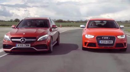 Peruas alemãs nervosas na pista: Mercedes-AMG C 63 Estate ou Audi RS4, quem leva?