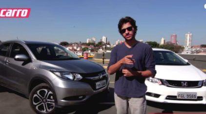 Qual carro comprar: sedan ou SUV? Comparativo entre Honda HR-V e Civic revela qual é melhor para você!