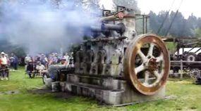 Inacreditável! Mesmo com 75 anos, antigo e raro Motor Diesel