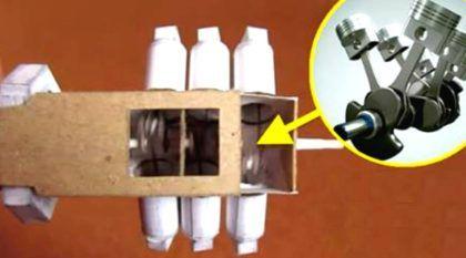 Inacreditável! Esse cara construiu o seu próprio motor V6 (de Papel)… e ele funciona!