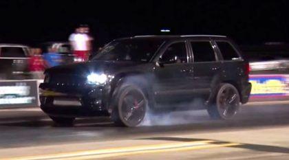 Esse Jeep Cherokee deixou um Nissan GT-R (e outros tantos carros) comendo poeira na arrancada