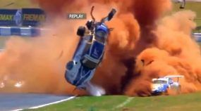 Filho de Nelson Piquet sofre acidente (extremamente brutal) em corrida com Porsche! Vídeo impressionante!