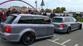Uma insanidade exclusiva! Veja só essa Audi RS4 puxando um trailer (também em formato de RS4)!