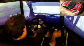 TOP ao extremo! Você vai ficar sem palavras ao ver um Piloto de Rally jogando um Game de Corrida no simulador!