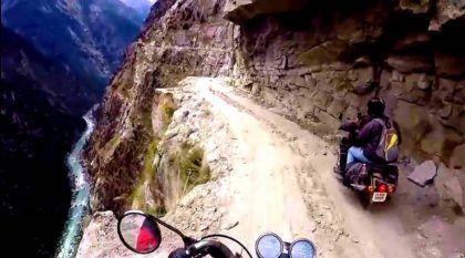 Esta é a (apavorante) visão de quem dirige numa das Estradas mais Perigosas do Mundo!