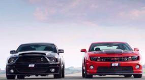 Camaro e Mustang de 1000cv detonam no Drift e na velocidade final (eles foram preparados no Brasil)