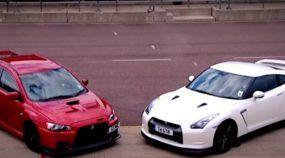 Mitsubishi Lancer Evo X desafia Nissan GT-R (atenção: o resultado não é óbvio)