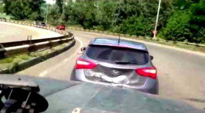 Brigar (e xingar) no Trânsito pode custar caro… Veja o que aconteceu, neste Vídeo, com um Hyundai i30!