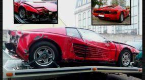 Esse cara comprou uma Ferrari Testarossa detonada (por cerca de R$ 37.500) e ficou Seis Anos restaurando o carro!