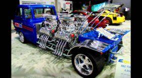 4000 cv e 4 Motores com Supercharger! Conheça os detalhes (brutais) deste pequeno Caminhão Ford 1962!